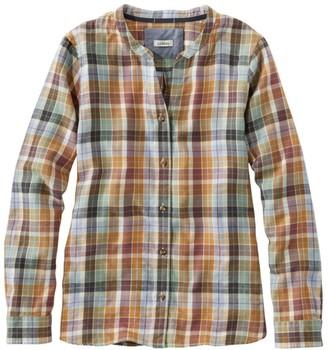 L.L. Bean Women's Rangeley Flannel Shirt, Collarless