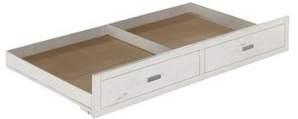 ACME Furniture Acme Tree House II Trundle in Weathered White and Washed Gray