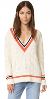 3.1 Phillip Lim Collegiate V Neck Sweater