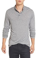 French Connection Men's Long Sleeve Wool Jersey Polo