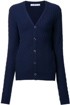 Julien David v-neck side striped cardigan