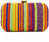Santi Stripe Bead Box Clutch