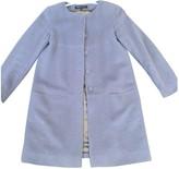 agnès b. Blue Wool Coat for Women