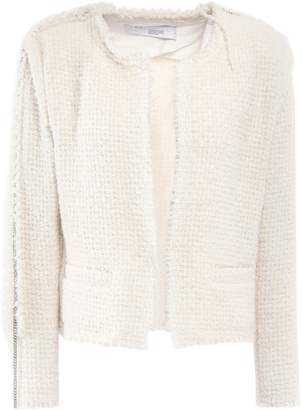 IRO Frayed Chain-trimmed Boucle-tweed Blazer