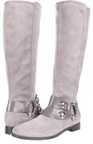 Alexander McQueen Stival Pelle S. Cu Daim Velour/Bon (Light Grey/Light Grey) - Footwear