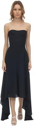 Rokh Twill Bustier Midi Dress