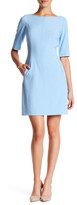 Tahari Elbow Sleeve Sheath Dress (Petite)