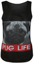 "VIP Womens Sleeveless ""Pug Life"" Print Vest Top (4/6 (uk 8/10), )"