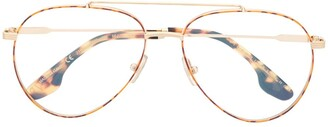 Victoria Beckham Havana aviator optical glasses