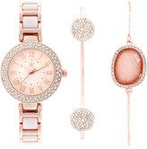 INC International Concepts Women's Rose Gold-Tone Bracelet Watch & Bracelets Set 30mm IN008RGBL, Only at Macy's