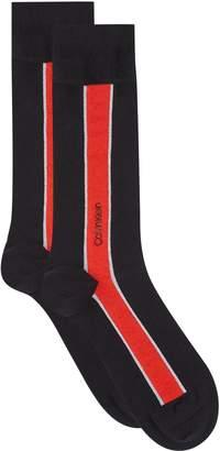 Calvin Klein Contrast Stripe Egyptian Cotton Socks