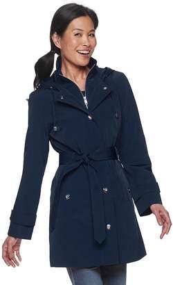 London Fog Women's TOWER by Hooded Lightweight Rain Jacket
