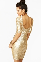 Nasty Gal Goldmine Sequin Dress