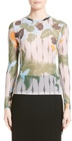 Yigal Azrouel Women's Yigal Azruel Tropical Bird Mesh Tee