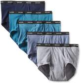 Fruit of the Loom Men's Big Stripe Solid Briefs (Pack of Five)