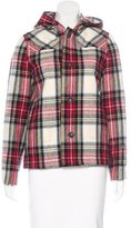 A.P.C. Plaid Hooded Jacket