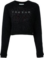 Carven glitter effect logo sweatshirt - women - Cotton/Spandex/Elastane - L
