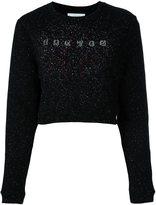Carven glitter effect logo sweatshirt