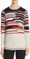 Nic+Zoe Tonal Tides Variegated Stripe Sweater