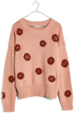 Madewell Flower Embroidered Sweater