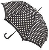 Fulton Riva Auto Umbrella-BLACK & WHITE SPOTS