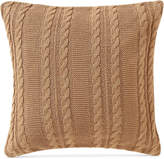 "Victoria Classics Dublin Cable-Knit 18"" Square Decorative Pillow Bedding"