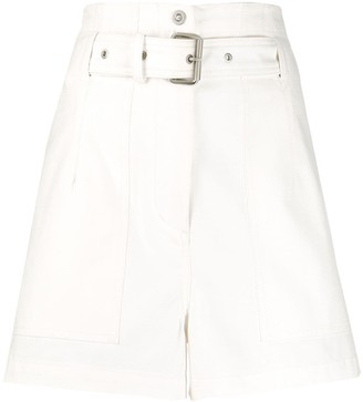 3.1 Phillip Lim belted A-line shorts
