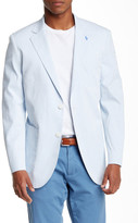 Tailorbyrd Sky Blue Two Button Notch Lapel Sports Jacket