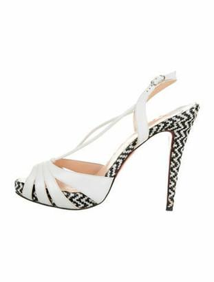 Christian Louboutin Activa Leather Sandals White