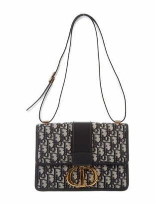 Christian Dior 2019 30 Montaigne Oblique Bag Blue