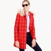 J.Crew Tall chateau parka in windowpane check