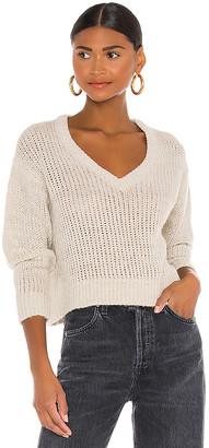 Indah Josie V Neck Crop Sweater