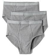 Classic Men's Knit Briefs (3-pack)-Cobble Gray Heather