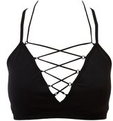 Charlotte Russe Plus Size Strappy Caged Bralette