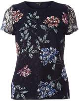 Dorothy Perkins Navy Floral Lace T-Shirt