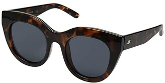 Le Specs Air Heart (Tortoise/Smoke Mono) Fashion Sunglasses