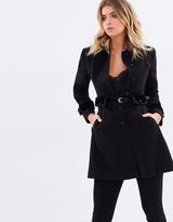 Miss Selfridge Velvet Trim Coat