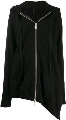 Unravel Project asymmetric drape hoodie