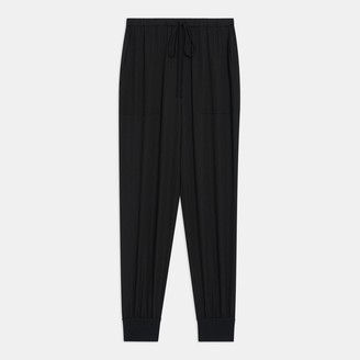 Theory Ribbed Cuff Jogger In Silk