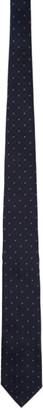 Ermenegildo Zegna Navy Silk Diamond Tie