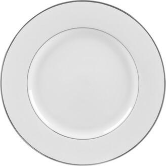 Ten Strawberry Street Set Of Six Silver Double Line Dinner Plates