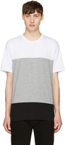 Rag & Bone White and Grey Precision T-shirt