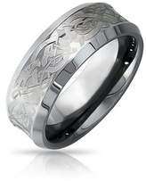 Bling Jewelry Celtic Dragon Unisex Tungsten Wedding Ring 8mm.