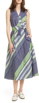 Tory Burch Stripe Wrap Dress