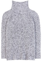 Alexander Wang Cotton, Wool And Mohair-blend Turtleneck Sweater