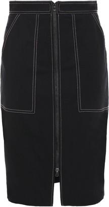 Diane von Furstenberg Patchwork Tweed Midi Pencil Skirt