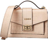 Mario Valentino Valentino By Titti Crocodile-Embossed Leather Satchel