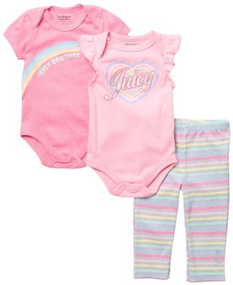 Juicy Couture Logo Print Bodysuit & Leggings Set (Baby Girls 12-18M)