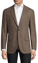 Isaia Regular-Fit Herringbone Wool Sportcoat