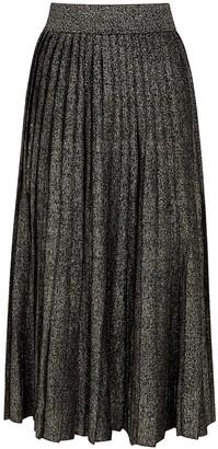A.L.C. Nevada metallic stretch-knit midi skirt